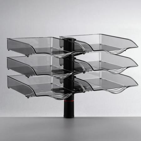 Novus CopySwinger Duo III drehbare Schreibtisch Ablageschalen