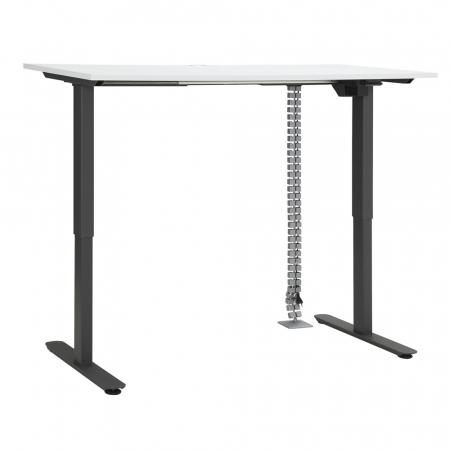 Höhenverstellbarer Schreibtisch weiß matt
