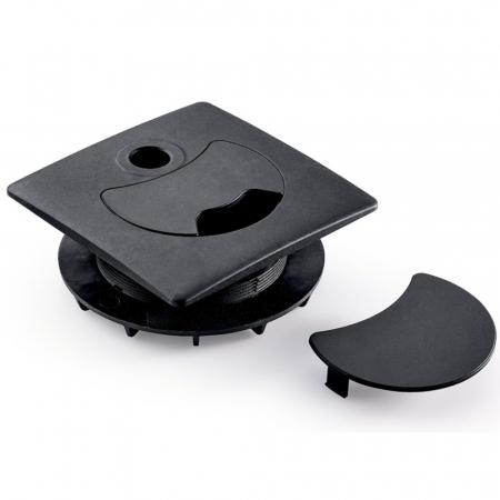 Novus Attenzia Kabellochbefestigung 80mm schwarz aus Kunststoff