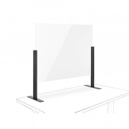 Novus Acryl-Glas-Trennwand 100x75 mit Standfuß