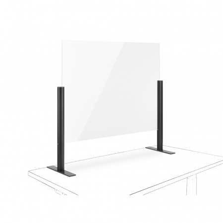 Novus Acryl-Glas-Trennwand 75x100 mit Standfuß