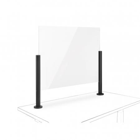 Novus Acryl-Glas-Trennwand 75x50 mit Kabellochbefestigung