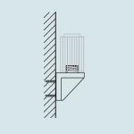 Novus Wandbefestigung aus Kunststoff für Universalzwinge 1