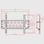 Novus Wand Monitorhalterung Screenmaster Vario 50WH Silber