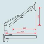 Novus Monitor Tischhalterung LiftTEC Arm2 Belastung 7-15 kg