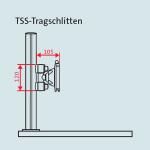 Novus Monitor Tragschlitten für TSS Säulen