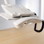 Novus Telefonschwenker PHONEMASTER lichtgrau ohne Arm Unizwinge1