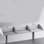 Novus Ablageboard BOARD MASTER einfach 100cm Zwinge lichtgrau