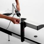 Novus Ablageboard BOARD MASTER einfach 120cm Zwinge lichtgrau