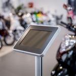 Novus Retail System base 200 Deskstand connect, Standfuß silber