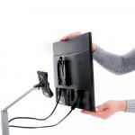 Monitortragarm Clu mit Slatwalladaper 1,5-6kg