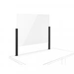 Novus Acryl-Glas-Trennwand 100x75 mit Systemzwinge