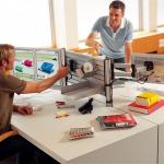 Novus Schreibtisch Trennwand SlatWall 80