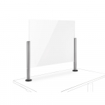 Novus Acryl-Glas-Trennwand 100x75 mit Kabellochbefestigung