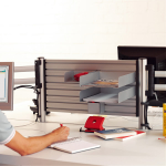 Novus Schreibtisch Trennwand SlatWall 100