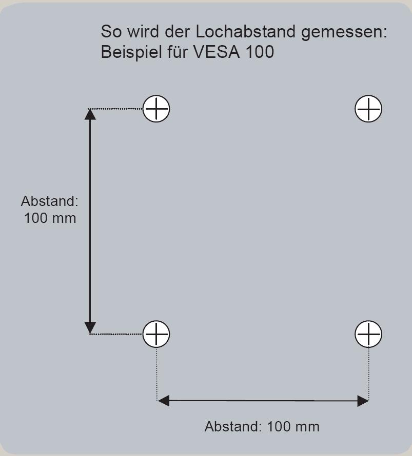 Vesa Norm für Flatscreen  Novus Shop, Profi für  ~ Waschbecken Lochabstand Norm
